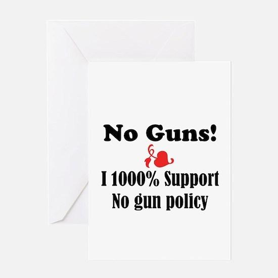 No Guns Greeting Card