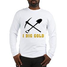Rockhoud I Dig Gold Long Sleeve T-Shirt