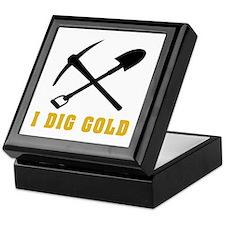 Rockhoud I Dig Gold Keepsake Box