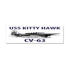 USS KITTY HAWK CV-63 Car Magnet 10 x 3