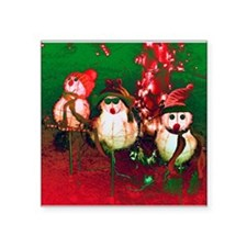 "Snow Men, Snow Women Square Sticker 3"" x 3&qu"