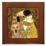 TheKiss-Golden (K) Framed Tile