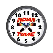 Unique Native american indian time Wall Clock
