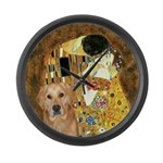 TheKiss-Golden (K) Large Wall Clock