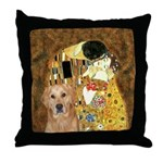TheKiss-Golden (K) Throw Pillow
