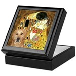 TheKiss-Golden (K) Keepsake Box