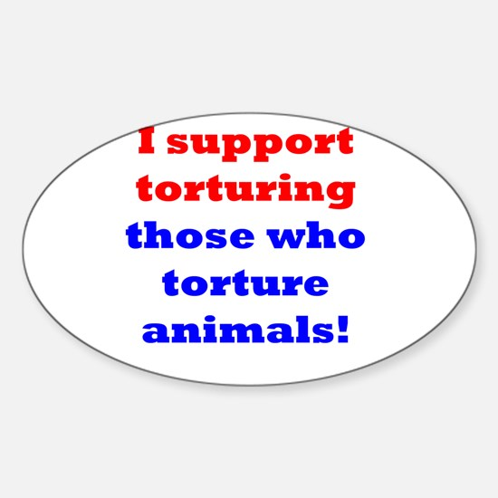 Torture those who torture Rectangle Decal