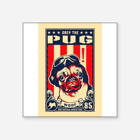 Pug USA Flying Ace! Rectangle Sticker