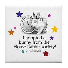 I adopted a bunny! Tile Coaster