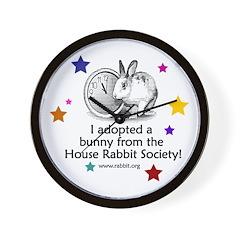 I adopted a bunny! Wall Clock
