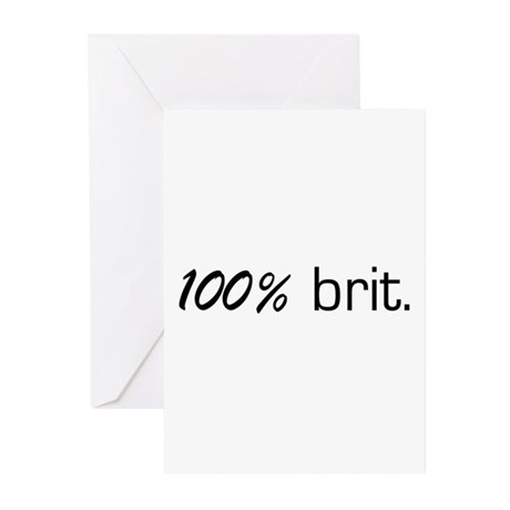 100% Brit Greeting Cards (Pk of 10)