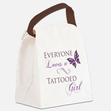 Tattooed Girl Canvas Lunch Bag