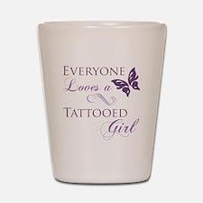 Tattooed Girl Shot Glass