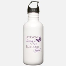 Tattooed Girl Water Bottle