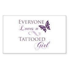 Tattooed Girl Decal