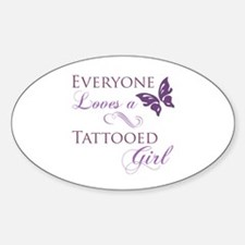 Tattooed Girl Sticker (Oval)