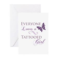 Tattooed Girl Greeting Card