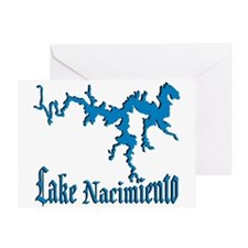 LAKE NACIMIENTO [4 blue] Greeting Card