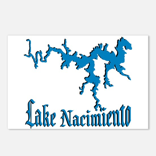 LAKE NACIMIENTO [4 blue] Postcards (Package of 8)