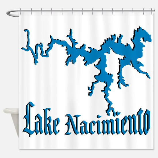 LAKE NACIMIENTO [4 blue] Shower Curtain