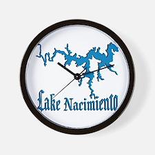 LAKE NACIMIENTO [4 blue] Wall Clock