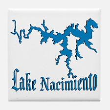 LAKE NACIMIENTO [4 blue] Tile Coaster