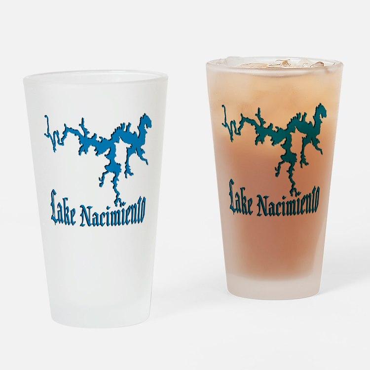 LAKE NACIMIENTO [4 blue] Drinking Glass