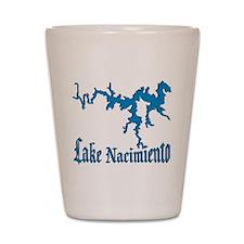 LAKE NACIMIENTO [4 blue] Shot Glass