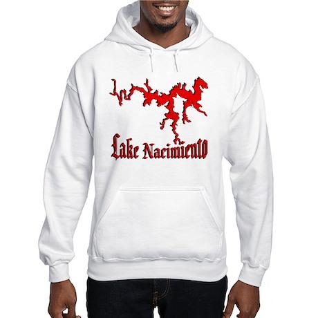 LAKE NACIMIENTO [4 red] Hooded Sweatshirt