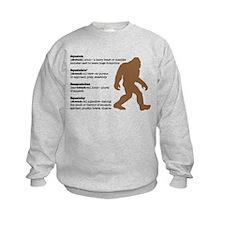 Definition of Bigfoot Sweatshirt