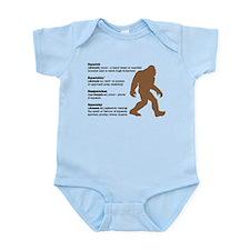 Definition of Bigfoot Infant Bodysuit