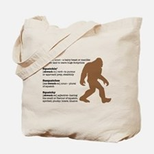 Definition of Bigfoot Tote Bag