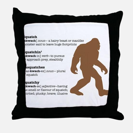 Definition of Bigfoot Throw Pillow