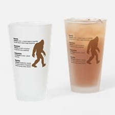 Definition of Bigfoot Drinking Glass