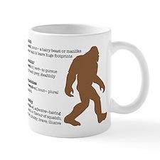 Definition of Bigfoot Small Mugs