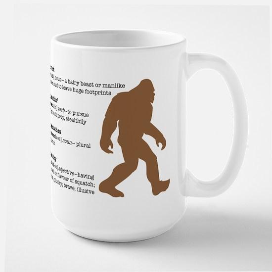 Definition of Bigfoot Large Mug