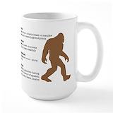 Bigfoot sasquatch Large Mugs (15 oz)