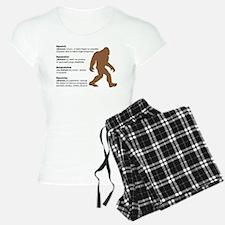 Definition of Bigfoot pajamas