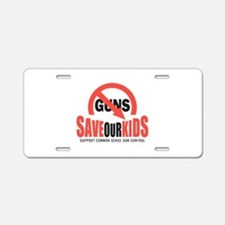 Save Our Kids Aluminum License Plate