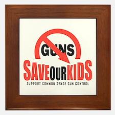 Save Our Kids Framed Tile