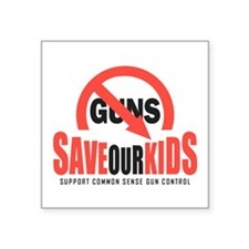 """Save Our Kids Square Sticker 3"""" x 3"""""""