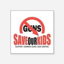 "Save Our Kids Square Sticker 3"" x 3"""