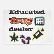 Educated drug dealer 5'x7'Area Rug