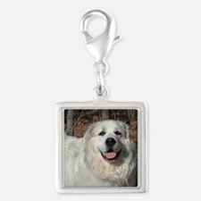 Great Pyrenees Silver Square Charm