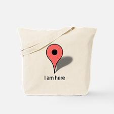 Google Map marker Tote Bag