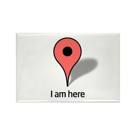 Google Map marker Rectangle Magnet