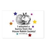 I adopted a bunny! Postcards (Package of 8)