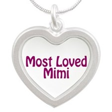 Most Loved Mimi Silver Heart Necklace