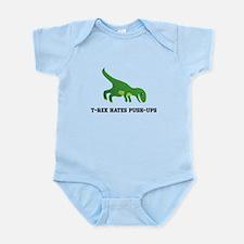 T-Rex Hates Pushups Infant Bodysuit