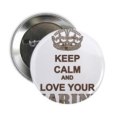 "Keep Calm and LOVE Your Marine (desert) 2.25"" Butt"
